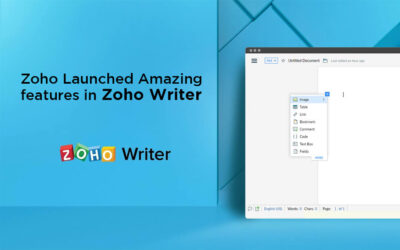 Zoho Launched Amazing features in Zoho Writer